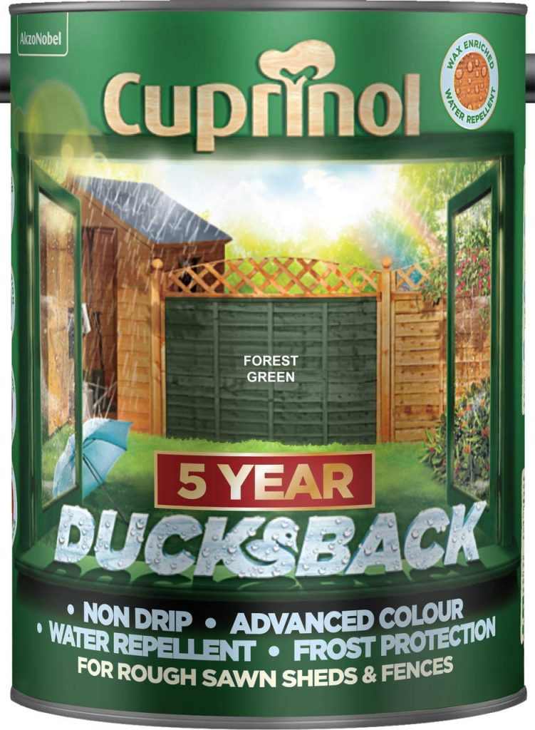 cuprinol fence paint colours