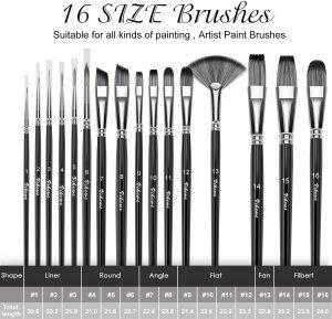 Professional Paint Brushes Set