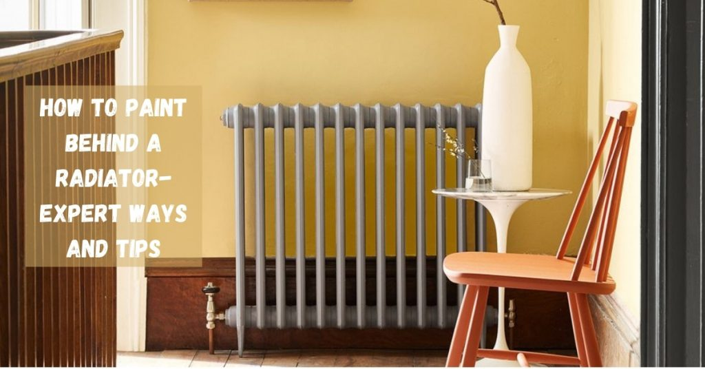How to paint behind a cast iron radiator
