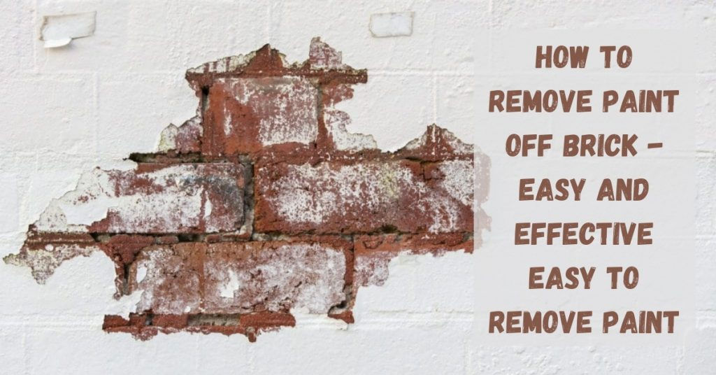 Removing paint from brick exterior