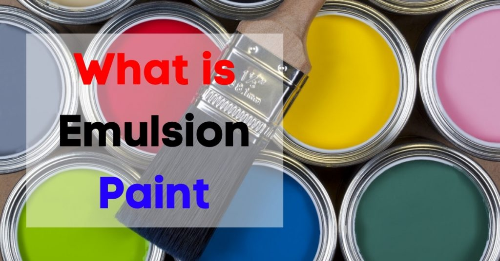 Emulsion paint for walls
