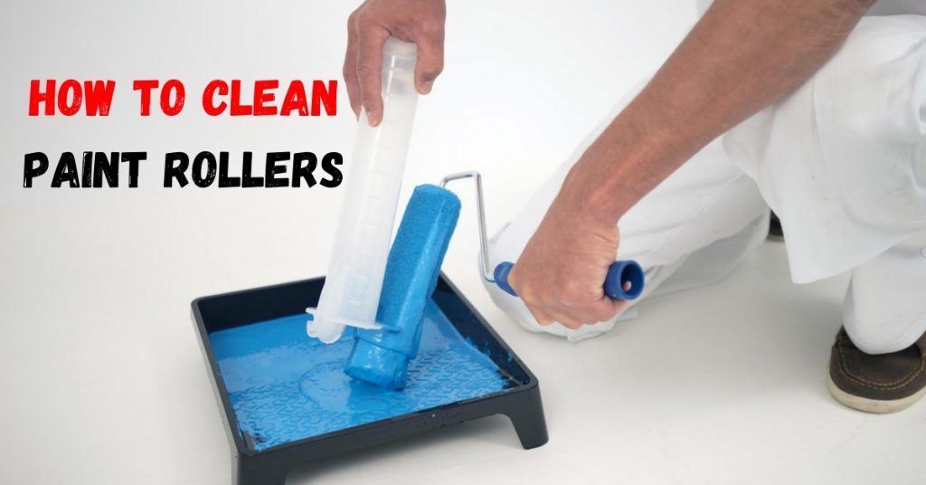 How to clean a paint roller with a drill